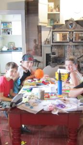 Kids made pinwheels, chromatropes and thaumatropes.