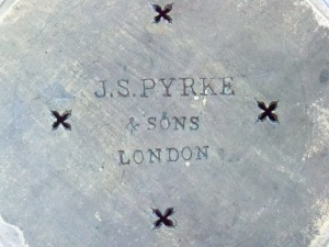 Lid stamped:  J.S. Pyrke & Sons, London
