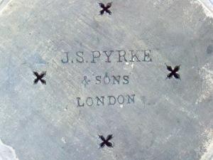 Lid stamped:  J.S. Pyrke & Sons, London