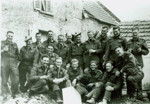 Officers of the 1st Battalion in France, June 1944.