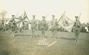 The 154th Battalion is presented with their colours, August 24, 1916.