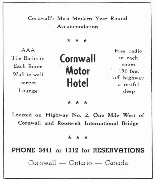 Cwl Motor Hotel_ad_ca 1954