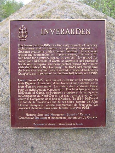 Inverarden Plaque