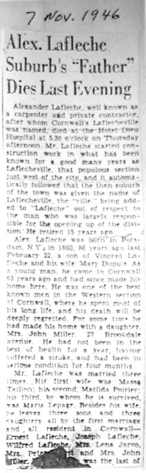 Lafleche Obit_1946-11-07