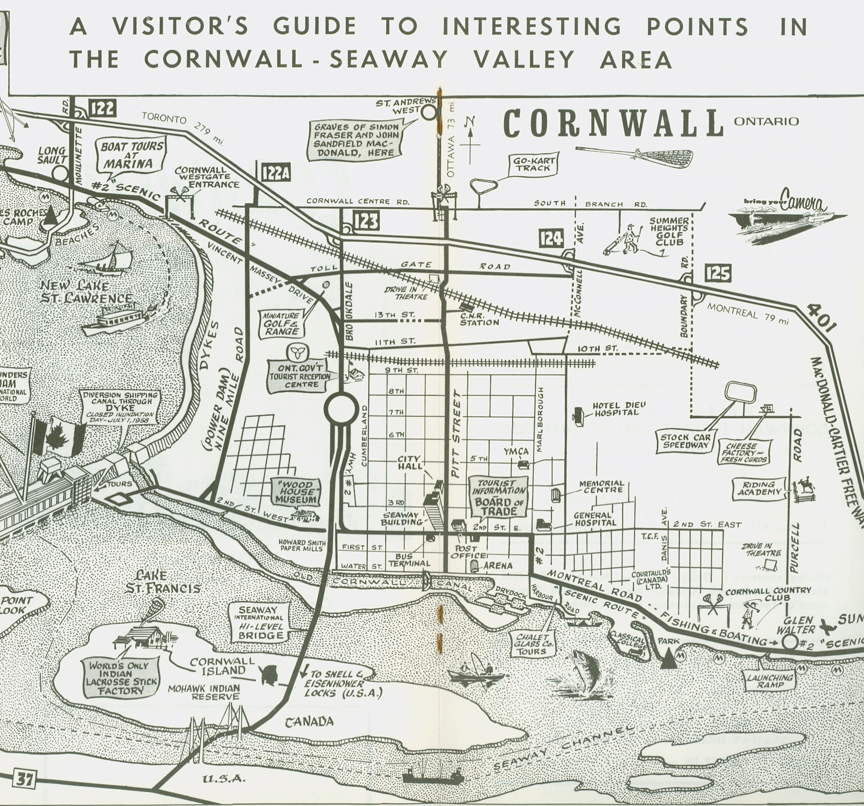 Cornwall Canada Map.Welcome To Cornwall 1967 Cornwall Community Museum