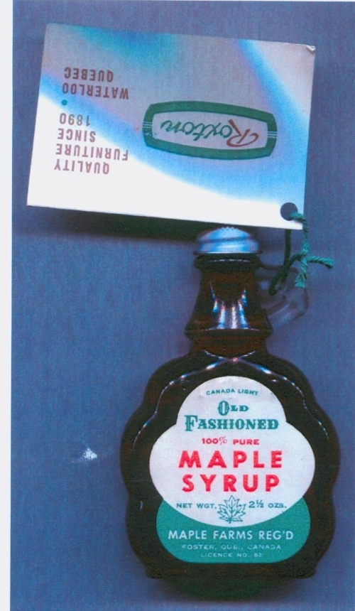 Artifact Of The Week Souvenir Maple Syrup From Pearson Furniture