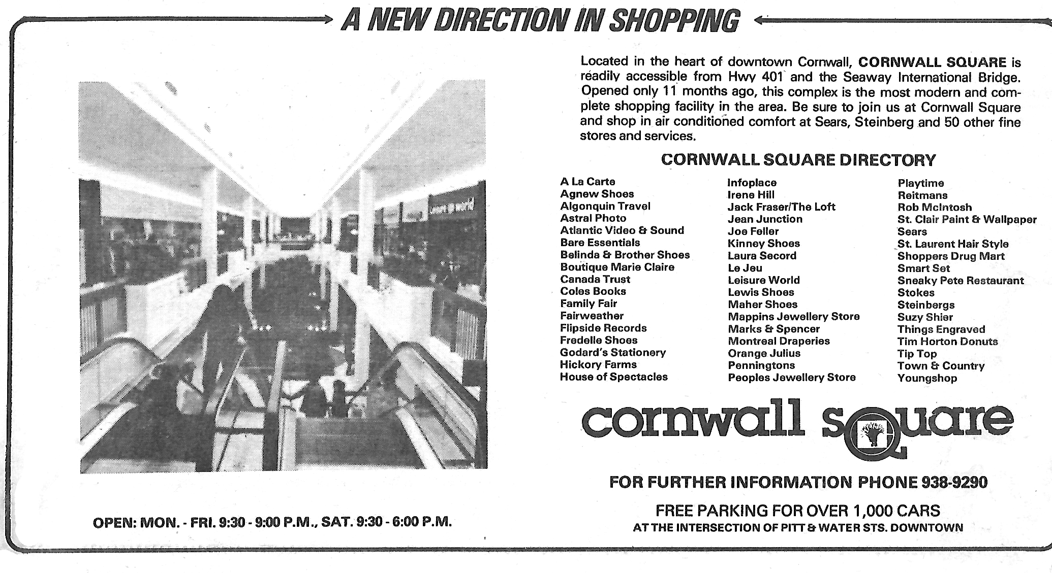 Sears Cornwall Square – 1979-2017 | Cornwall Community Museum