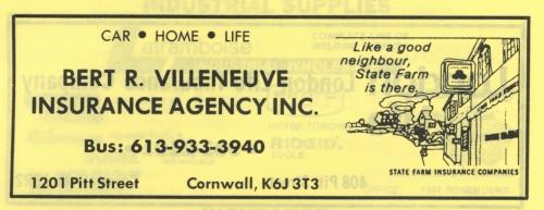 1201 Pitt_Bert R. Villeneuve Ins Agcy Inc_1989_CD ad