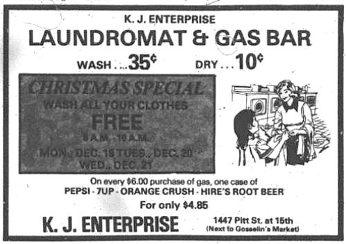 1447 Pitt_K.J. Enterprise Laundromat & Gas Bar_1977-12-17