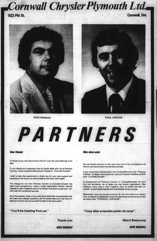 1523 Pitt_Cornwall Chrysler Plymouth Ltd_1977-01-08_partners