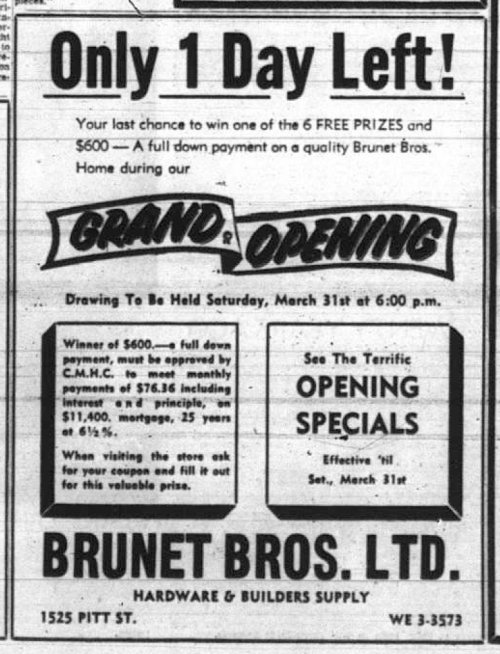1525 Pitt_Brunet Bros Ltd_1962-03-30
