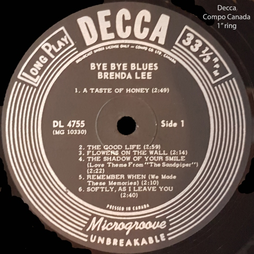 Brenda Lee_Bye Bye Blues_Labelled