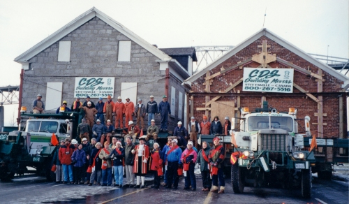 The Wood House on the move in 2000