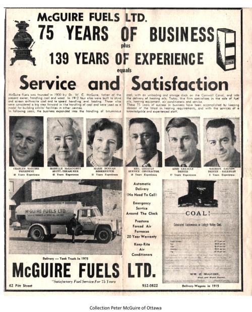 1975 McGuire Fuels coll. Peter McGuire, Ottawa
